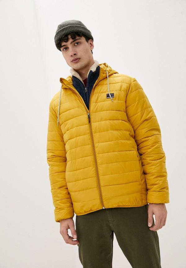 мужская спортивные куртка quiksilver, желтая