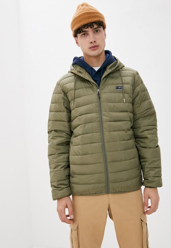 мужская спортивные куртка quiksilver, зеленая