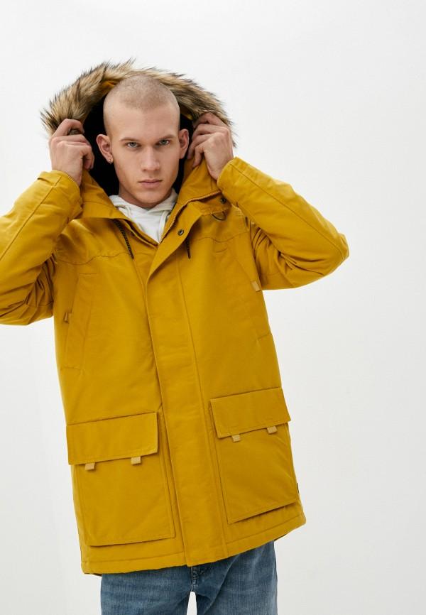 мужская куртка quiksilver, желтая