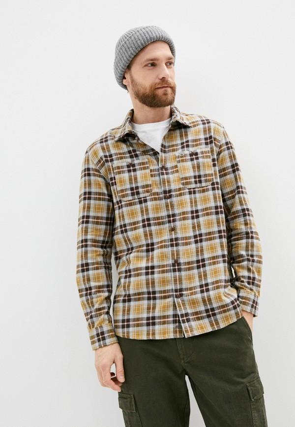 мужская рубашка quiksilver, разноцветная