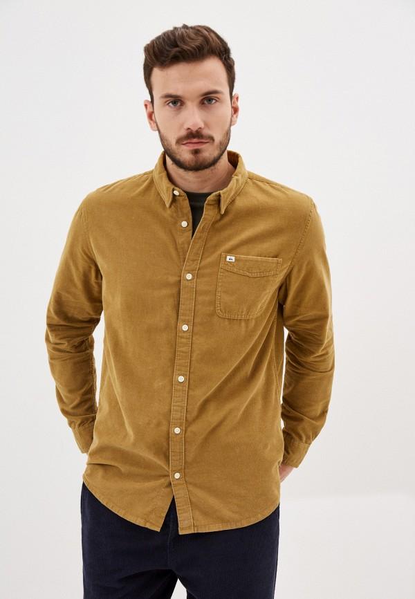 мужская рубашка quiksilver, коричневая