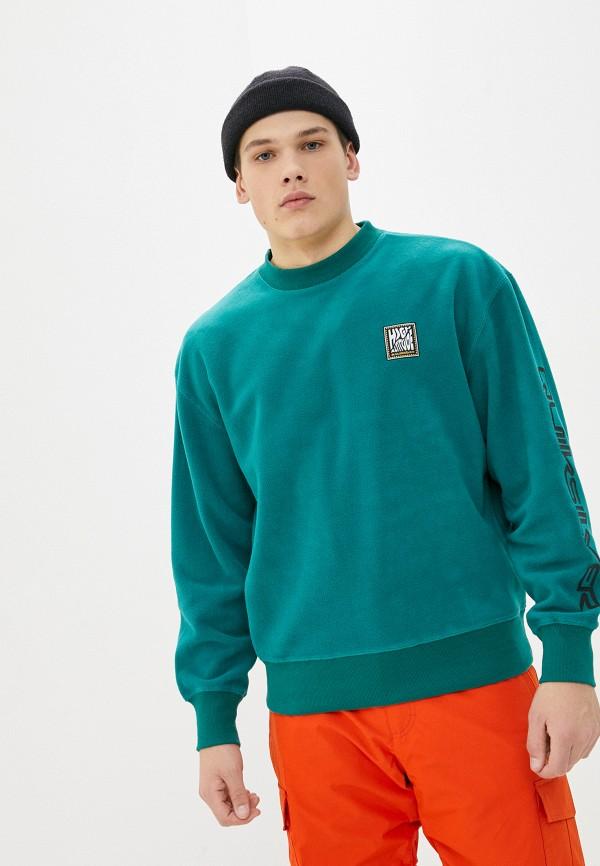 мужской спортивные свитшот quiksilver, зеленый