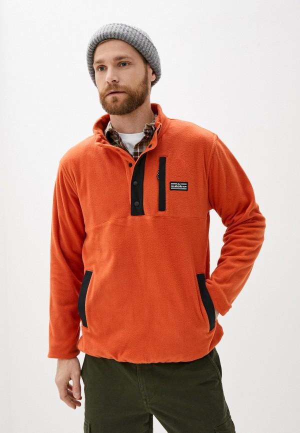 мужская олимпийка quiksilver, оранжевая