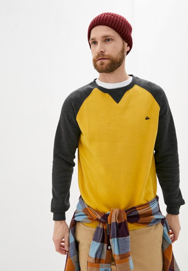 мужской свитшот quiksilver, желтый