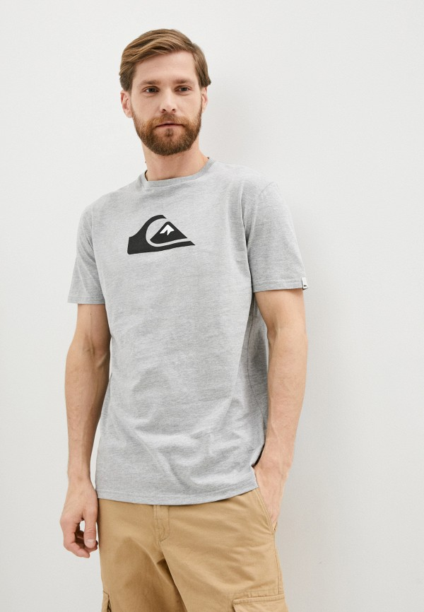 мужская спортивные футболка quiksilver, серая