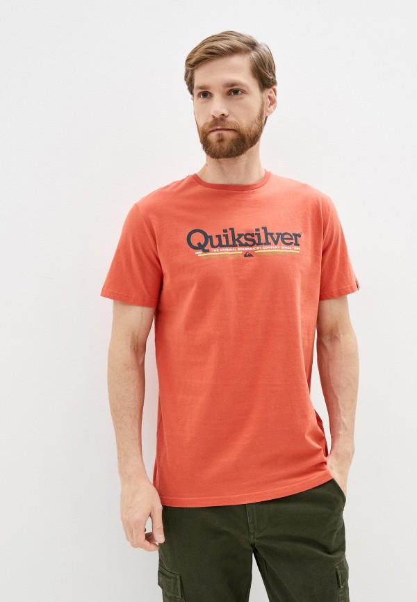 мужская спортивные футболка quiksilver, оранжевая