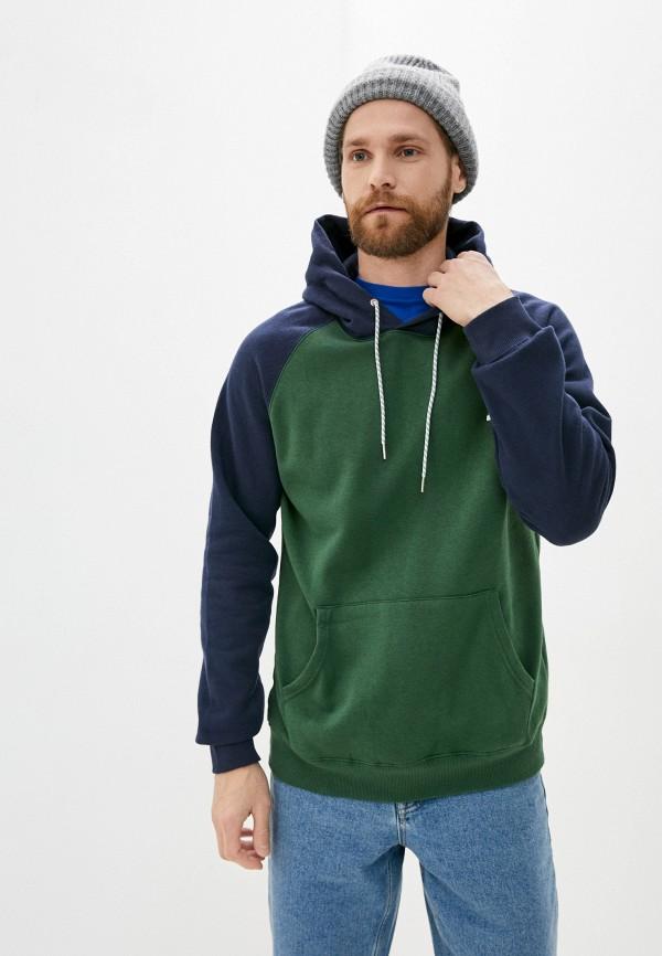 мужские худи quiksilver, зеленые