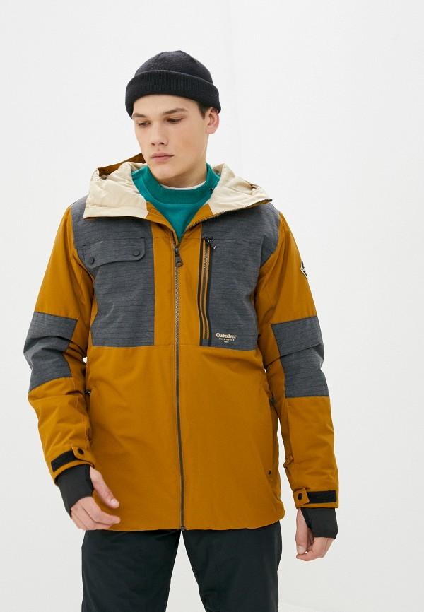 мужская горнолыжные куртка quiksilver, коричневая