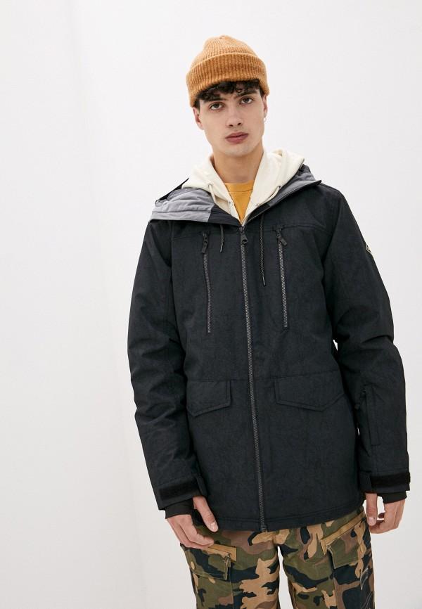 мужская горнолыжные куртка quiksilver, черная
