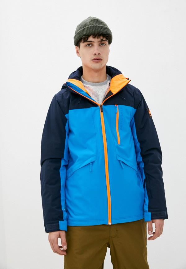 мужская горнолыжные куртка quiksilver, голубая