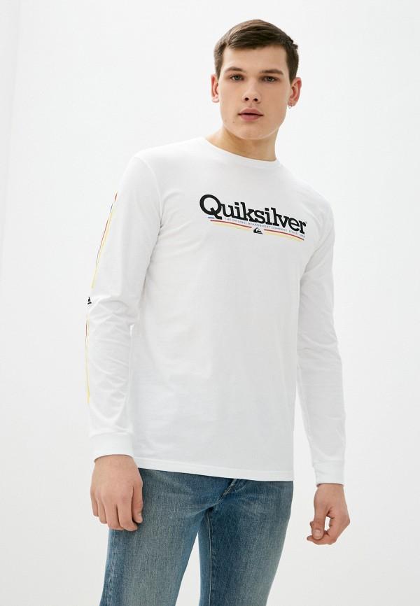 мужской лонгслив quiksilver, белый