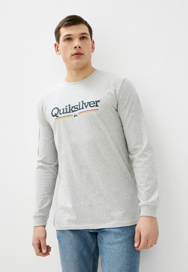 мужской лонгслив quiksilver, серый