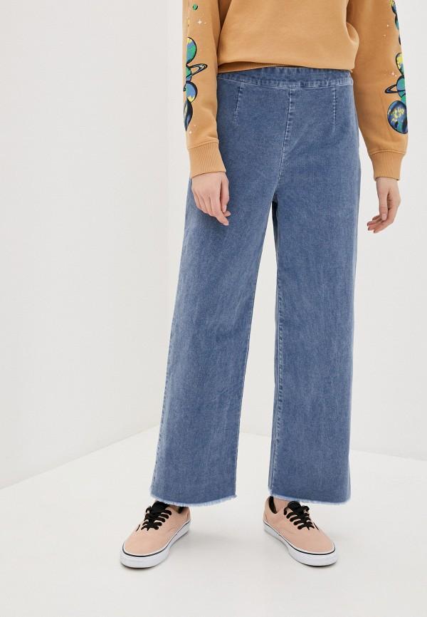 женские брюки quiksilver, голубые