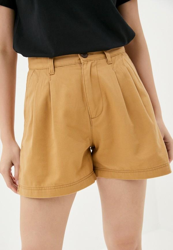 женские повседневные шорты quiksilver, бежевые