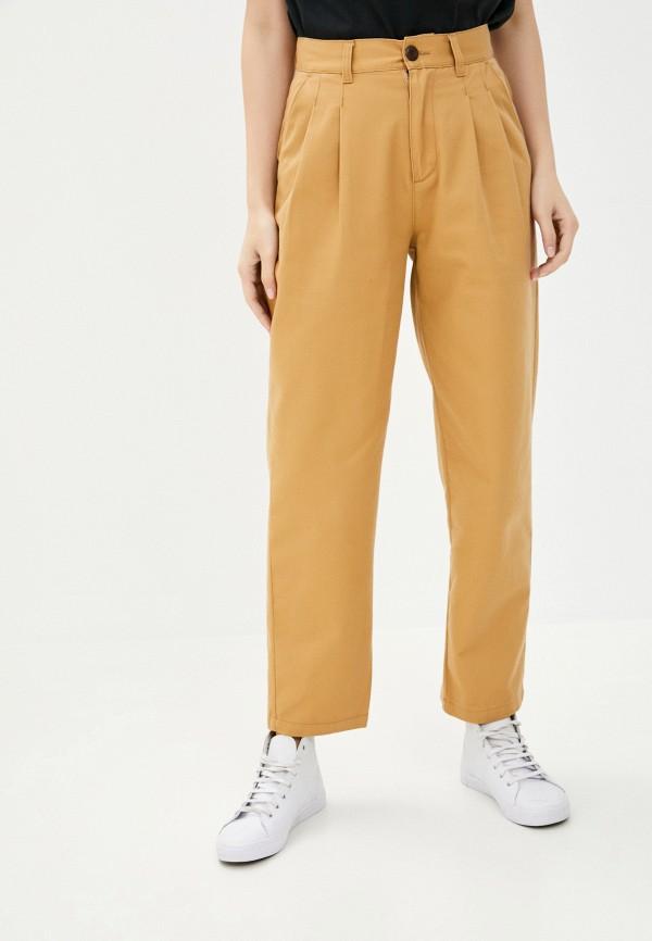 женские повседневные брюки quiksilver, бежевые