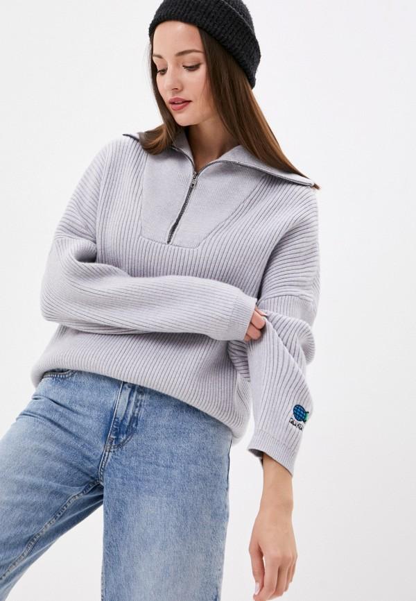 женский свитер quiksilver, серый