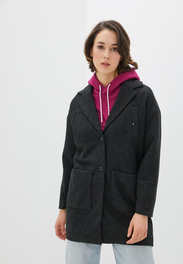женское пальто quiksilver, серое