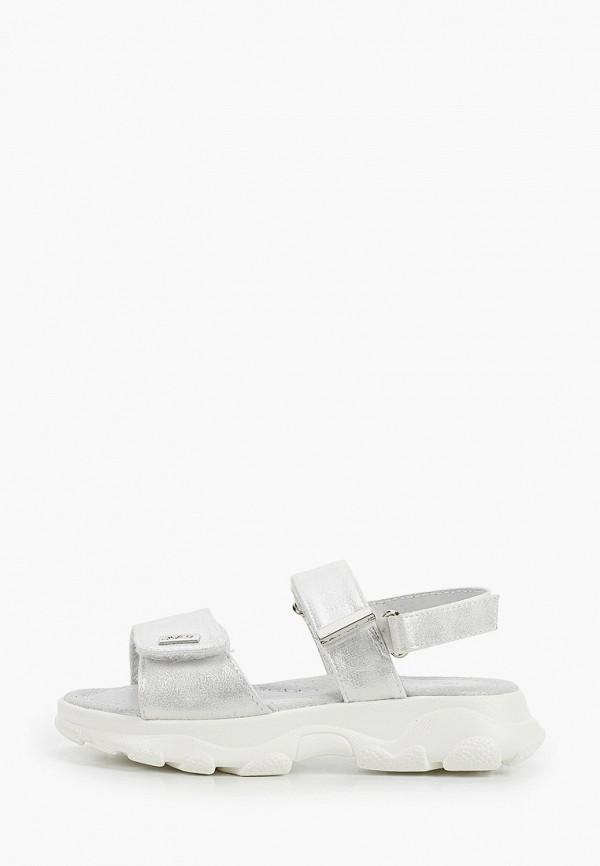 сандалии qwest для девочки, серебряные
