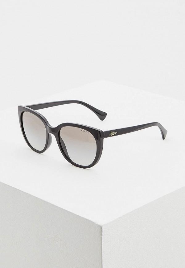 женские солнцезащитные очки кошачьи глаза ralph ralph lauren, черные