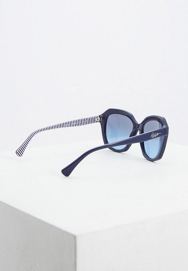 Фото 3 - Очки солнцезащитные Ralph Ralph Lauren синего цвета