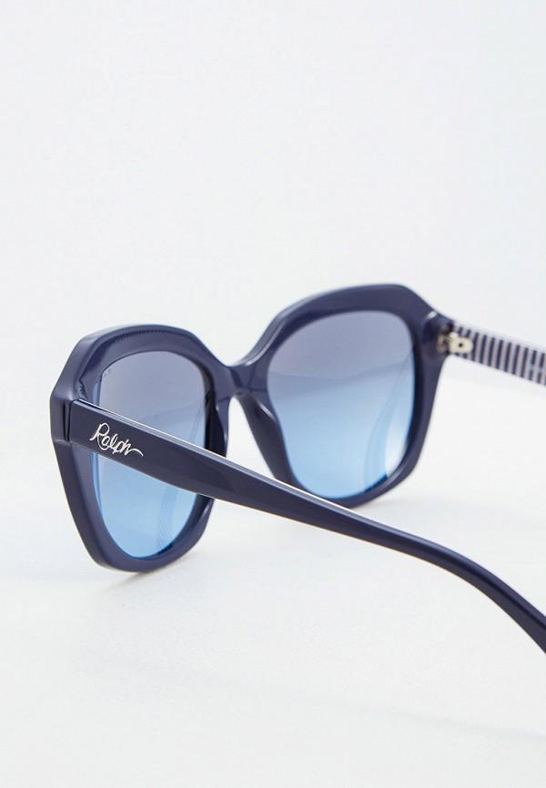 Фото 4 - Очки солнцезащитные Ralph Ralph Lauren синего цвета