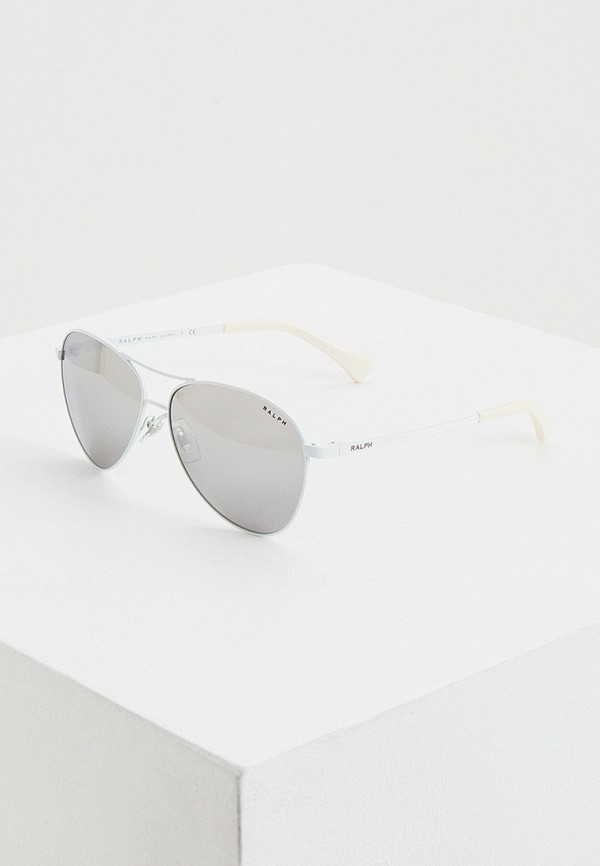 женские авиаторы солнцезащитные очки ralph ralph lauren, серебряные