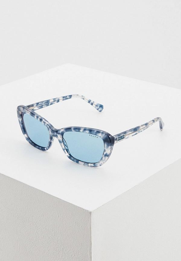 женские солнцезащитные очки кошачьи глаза ralph ralph lauren, голубые