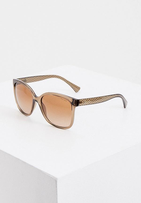 женские солнцезащитные очки ralph ralph lauren, коричневые