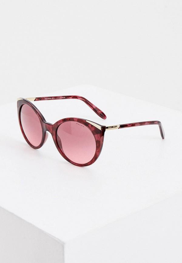 женские круглые солнцезащитные очки ralph ralph lauren, бордовые