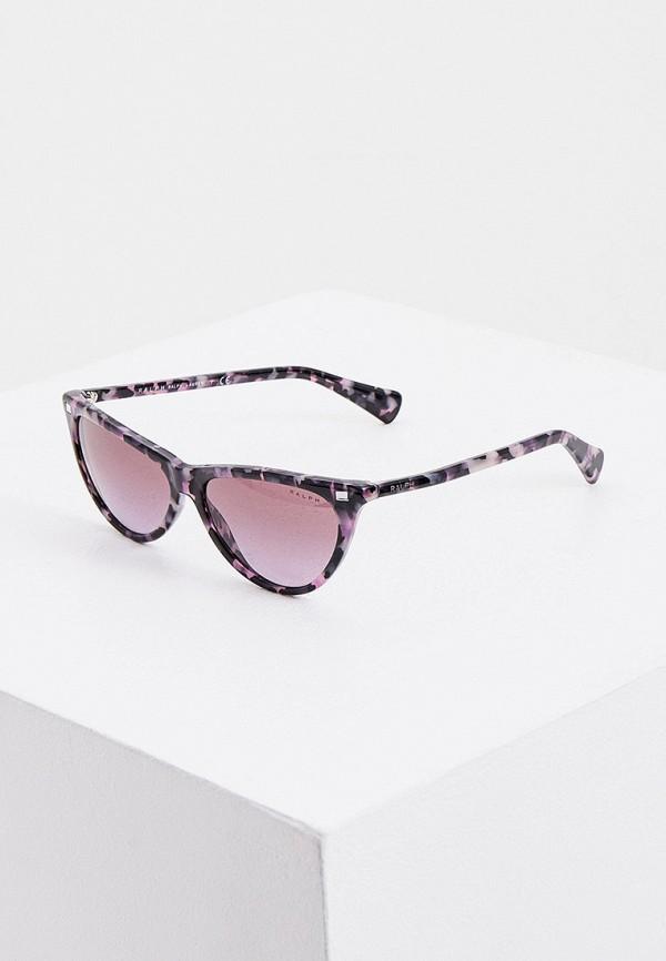 женские солнцезащитные очки кошачьи глаза ralph ralph lauren, фиолетовые