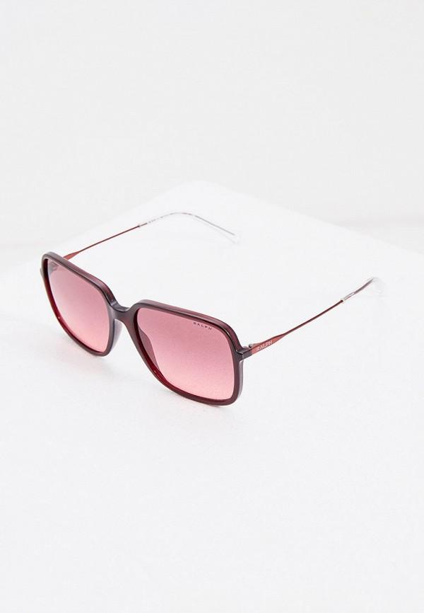 женские солнцезащитные очки ralph ralph lauren, бордовые
