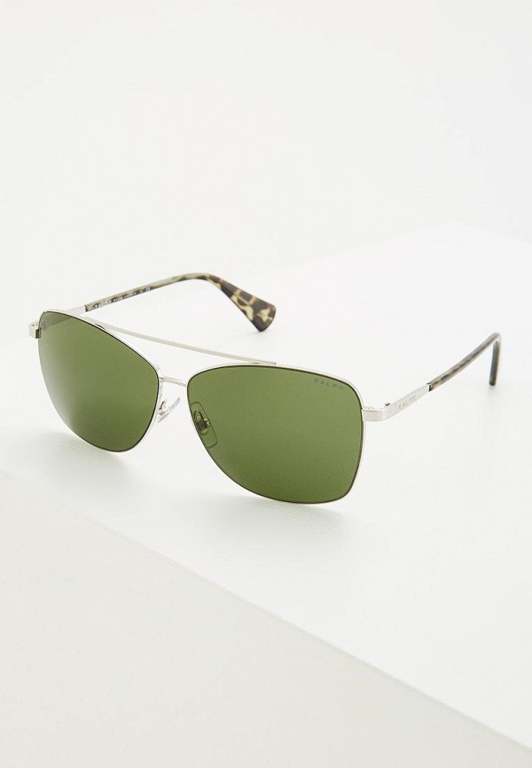 женские солнцезащитные очки ralph ralph lauren, серебряные