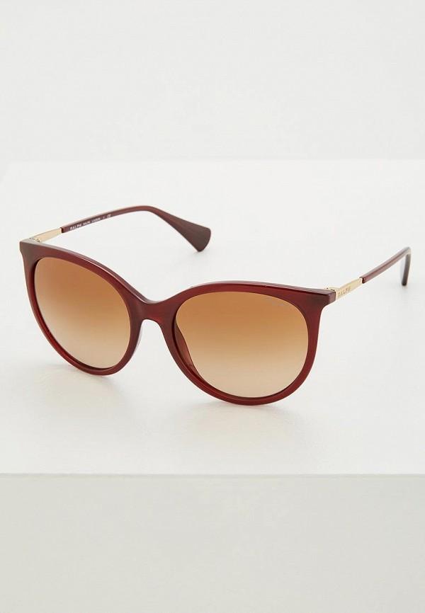 женские солнцезащитные очки кошачьи глаза ralph ralph lauren, бордовые