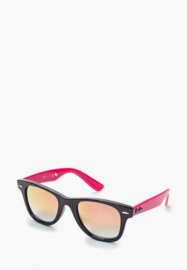 солнцезащитные очки ray ban для девочки, черные