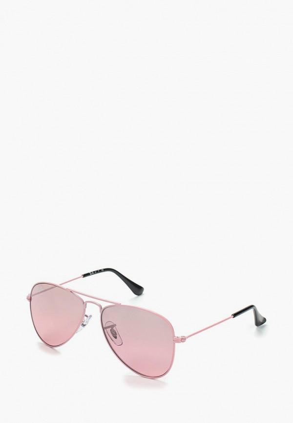 солнцезащитные очки ray ban для девочки, розовые