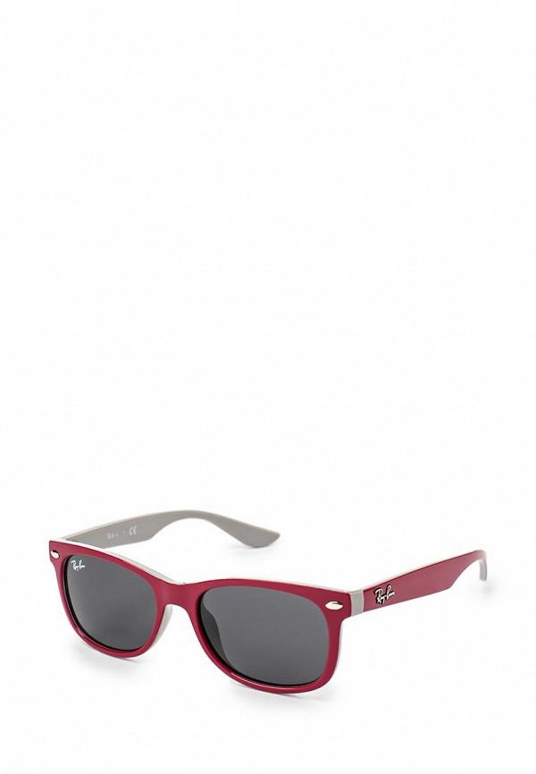 солнцезащитные очки ray ban малыши, бордовые
