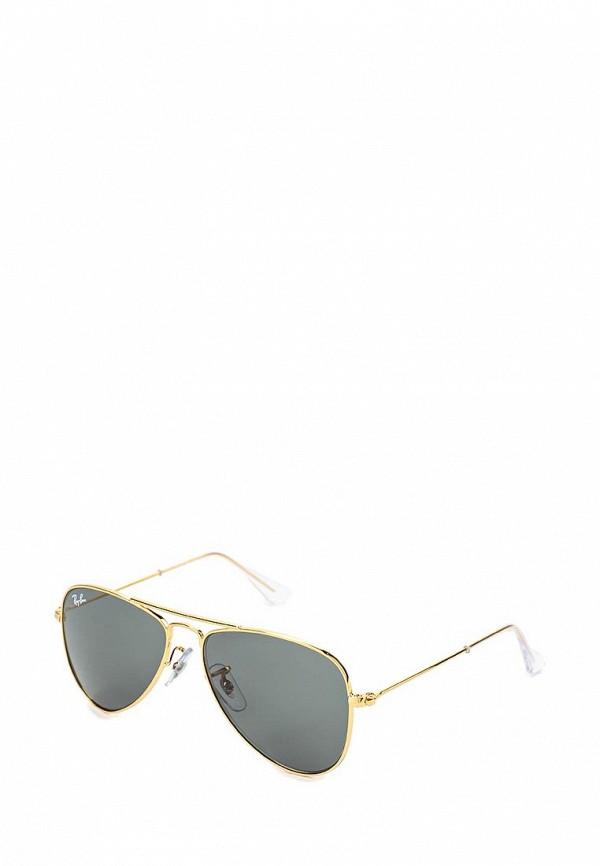солнцезащитные очки ray ban малыши, золотые