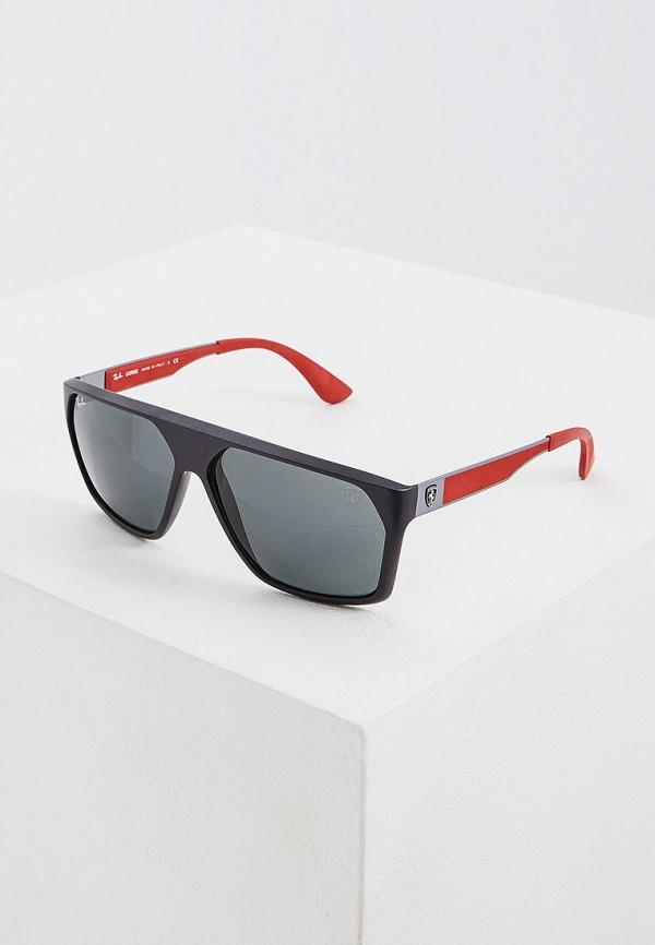 мужские квадратные солнцезащитные очки ray ban, черные