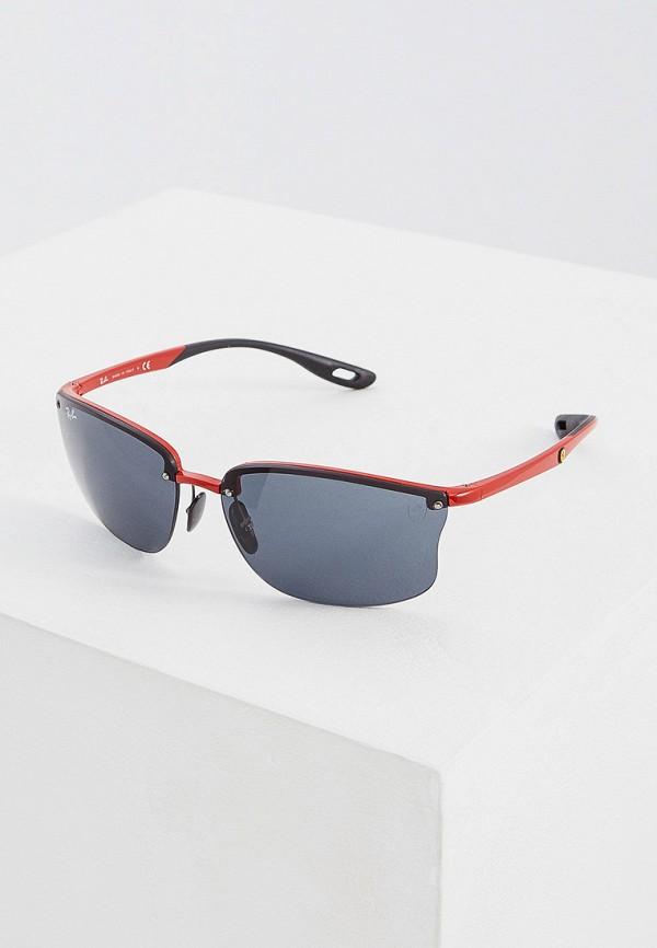 мужские солнцезащитные очки ray ban, красные