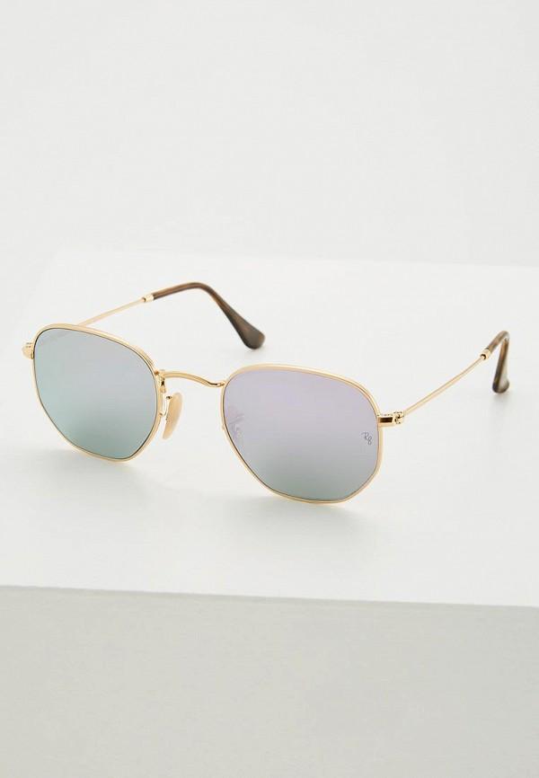 мужские солнцезащитные очки ray ban, золотые