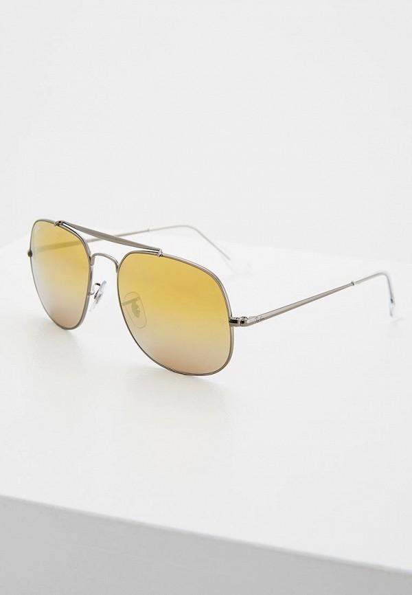 мужские солнцезащитные очки ray ban, серебряные