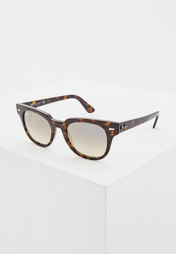 женские солнцезащитные очки ray ban, коричневые