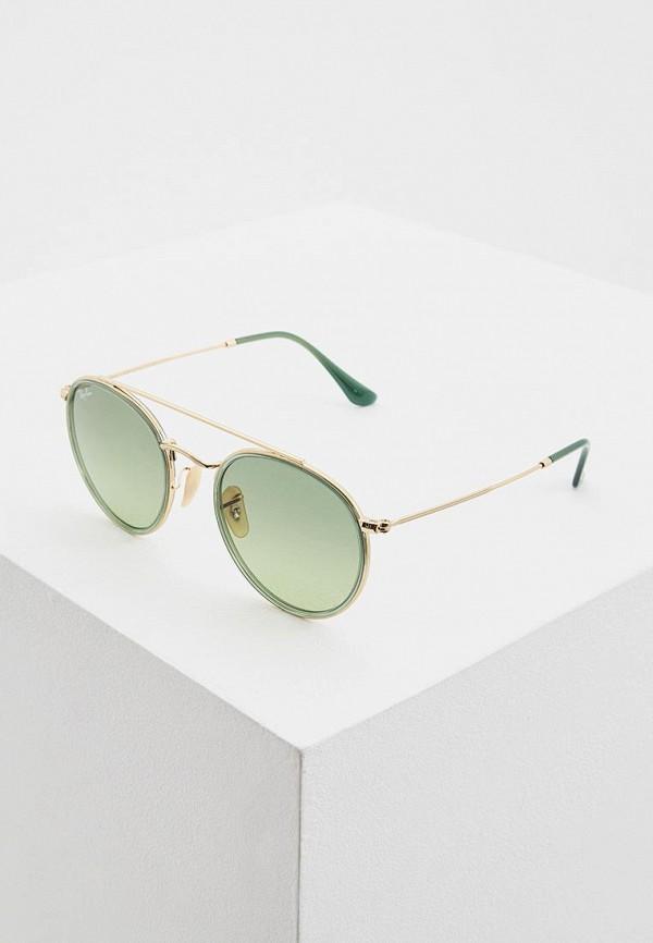 женские солнцезащитные очки ray ban, золотые