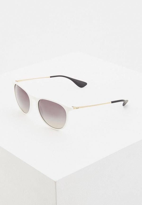 женские солнцезащитные очки ray ban, белые
