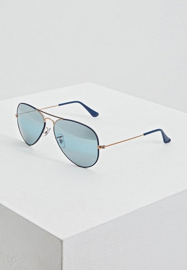 женские солнцезащитные очки ray ban, синие