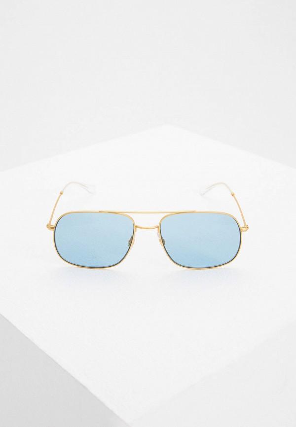 Фото 2 - Очки солнцезащитные Ray-Ban® золотого цвета
