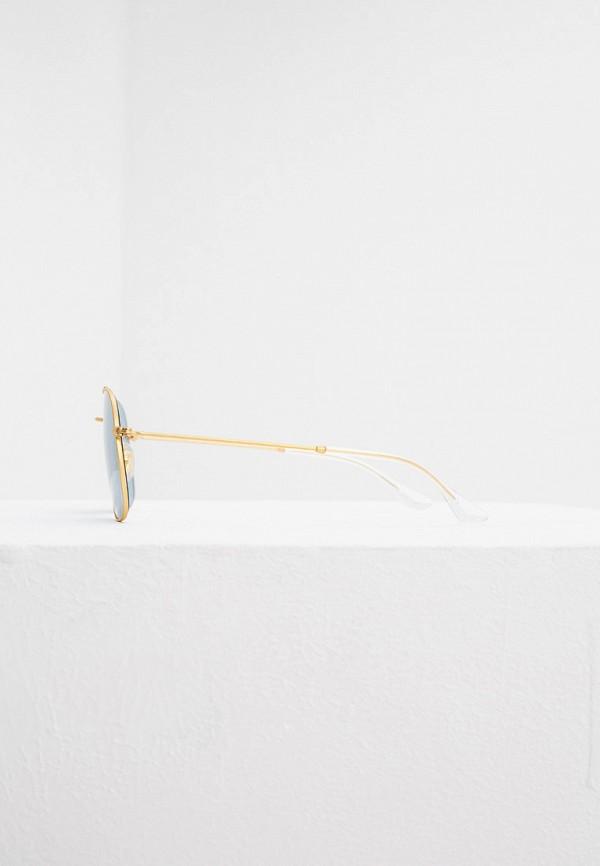 Фото 3 - Очки солнцезащитные Ray-Ban® золотого цвета