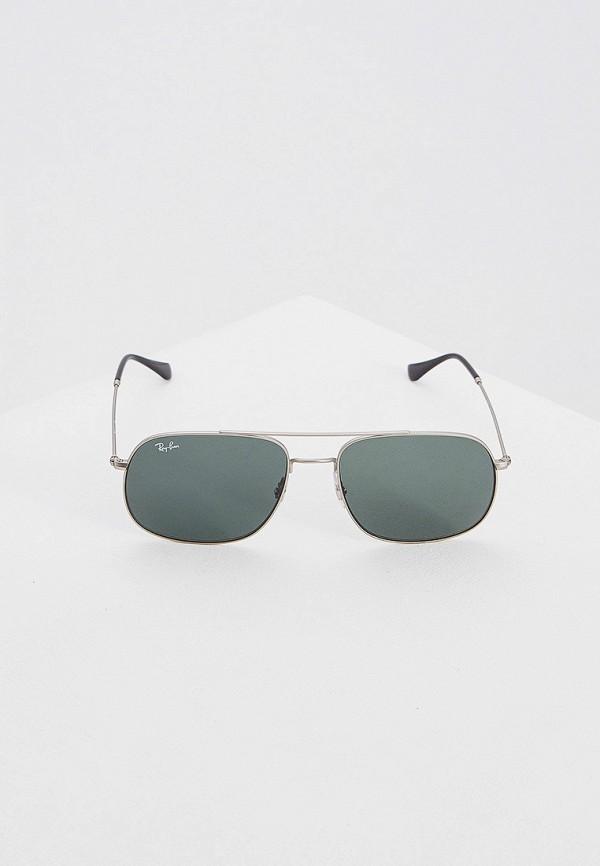 Фото 2 - Очки солнцезащитные Ray-Ban® серебрянного цвета