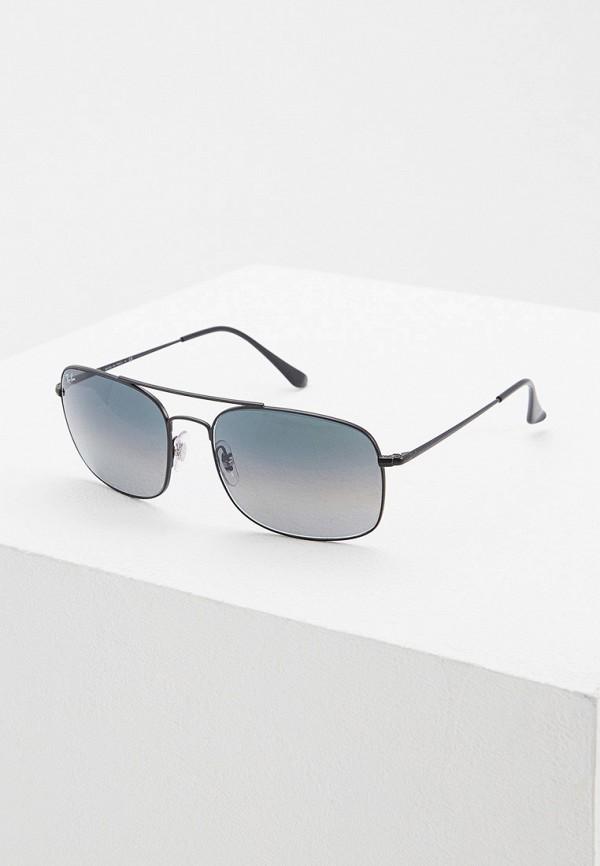 Фото - Очки солнцезащитные Ray-Ban® черного цвета