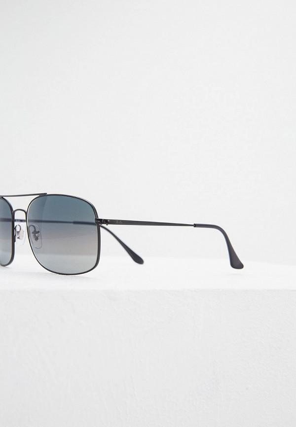 Фото 4 - Очки солнцезащитные Ray-Ban® черного цвета
